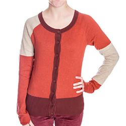 Womens Blocko Knit Cardigan - Barley Marl