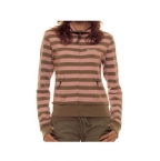 Womens Stripe Track Top Pink/Bungee
