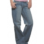 Womens Victoria Crinkle Jean Light Wash