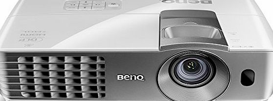 BenQ W1070  1080P Full HD Short-Throw Video Projector with 3D Support, Side Projection Support and Flexible Zoom and Lens Shift - White/Grey