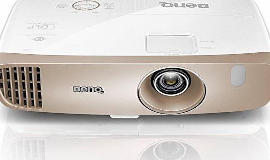 BenQ W2000 1080p Full HD Rec 709 Projector (Short Throw 100 inch at 2.5 m, Lens Shift, 2D Keystone Correction, Built-in 10 W Speakers x 2, 27 dB Low Noise, HDMI x 3, MHL and Optional Wireless Kit) - G