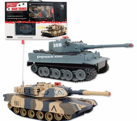 Toys Remote Control Infrared Battle Tanks (Pack of 2)