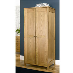Designs - Newhaven Oak 2 Door Wardrobe