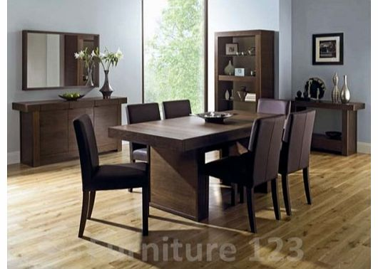 Akita Walnut Dining Set with 6