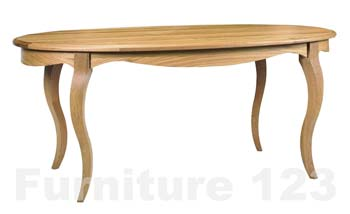 Amore Solid Oak Large Oval Dining Table