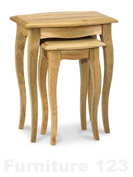 Amore Solid Oak Nest of Tables