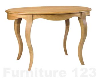 Amore Solid Oak Oval Dining Table