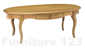 Amore Solid Oak Oval Storage Coffee Table