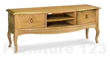 Amore Solid Oak Storage TV Unit