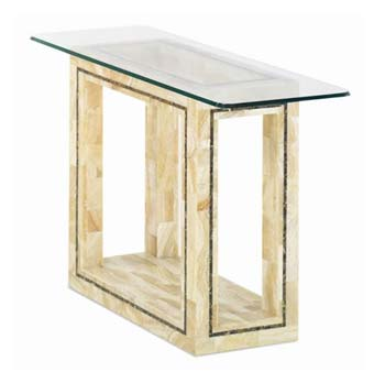 Athena Rectangular Glass Console Table in