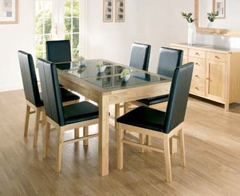 Atlanta Natural Extending Dining Set with