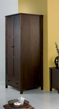 Atlantis Deep Oak Two Door Wardrobe