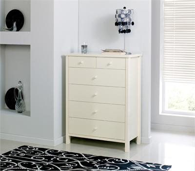 Atlantis Ivory 4 + 2 Drawer Chest Small Single