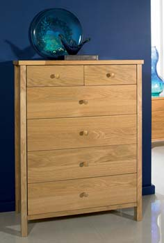 Atlantis Pale Oak 4 + 2 Chest of Drawers