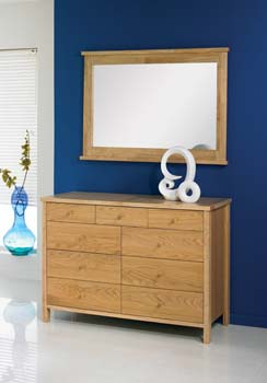 Atlantis Pale Oak 6 + 3 Chest of Drawers