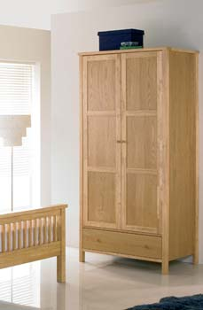 Atlantis Pale Oak Two Door Wardrobe