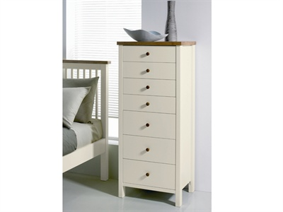 Atlantis Two Tone 7 Drawer Chest Small Single