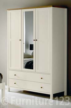 Atlantis Two Tone Triple Wardrobe