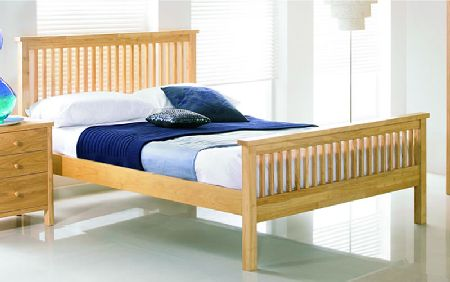 Bentley Atlanta Natural Wooden Bedstead, Double,