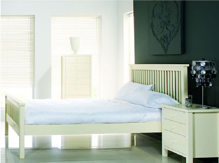 Bentley Atlantis Ivory Wooden Bedstead, Single,