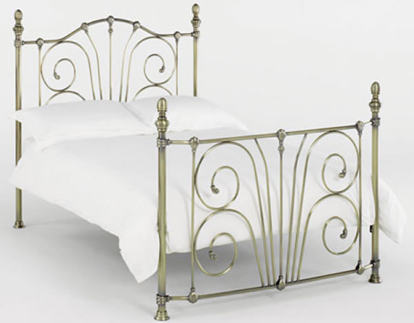 Bentley Rebecca Antique Metal Bedstead, Double,