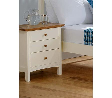 Clearance - Alaska 3 Drawer Bedside Table