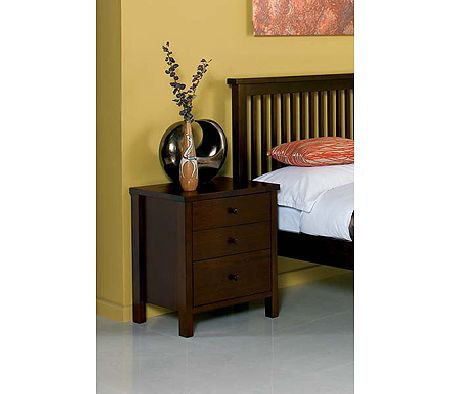 Clearance - Atlantis Deep Oak Bedside Table (PAIR)