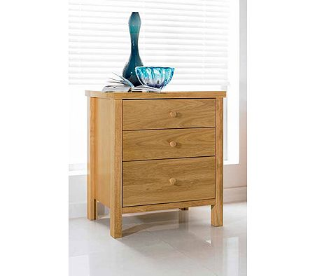 Clearance - Atlantis Pale Oak Bedside Table
