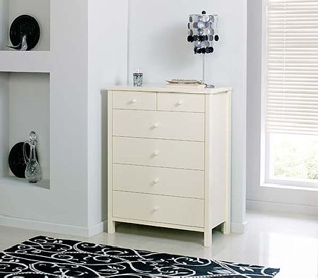 Clearance - Atlantis Pearl Oak 4+2 Drawer Chest