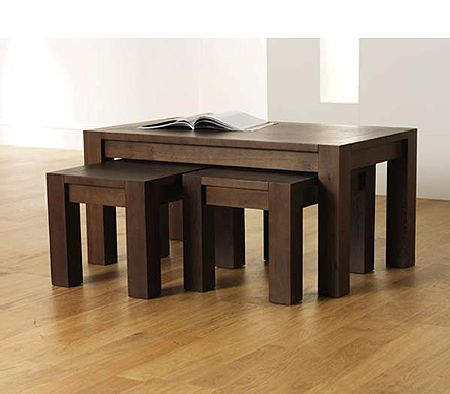 Clearance - Lyon Walnut Nest of Coffee Tables