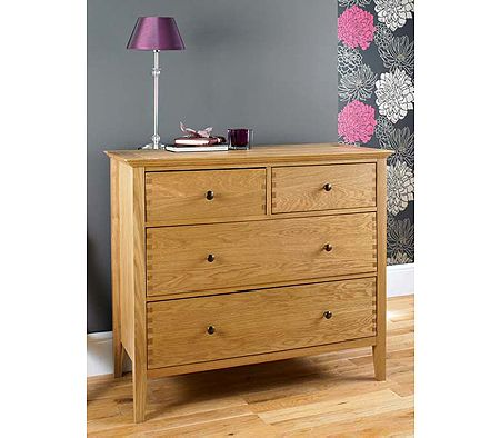 Clearance - Stafford Oak 2+2 Drawer Chest