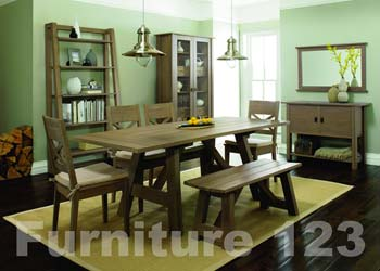 Coniston Smoky Oak 6-8 Seater Extending Dining Set