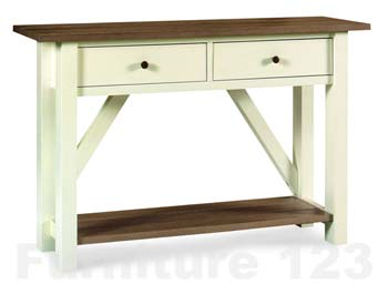 Coniston Two Tone Console Table