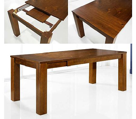 Cuba Acacia Rectangular Extending Dining Table