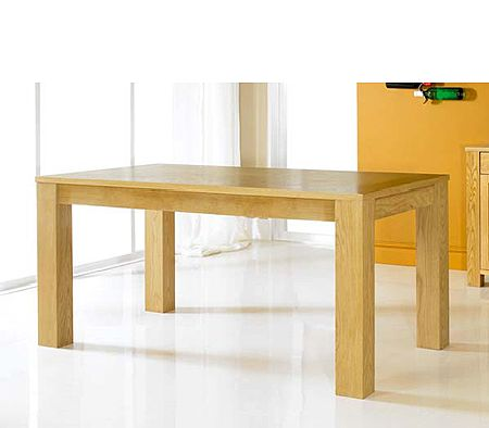 Cuba Oak Rectangular Dining Table