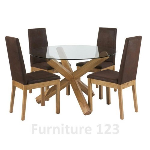 Felix Oak Round Dining Set with