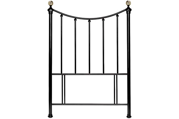 Hana Black Headboard Single 90cm