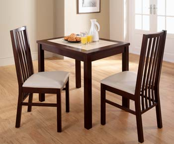 Hudson 2 Seater Table with 2 Slat Back Chairs