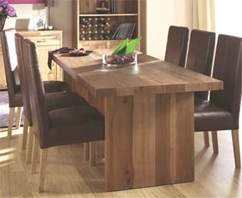 Izmir Dining Set with Brown Leather Chairs