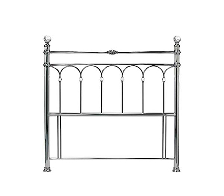 Krystal Headboard in Antique Nickel