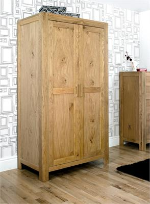 Lyon Oak Double Wardrobe Small Single (2