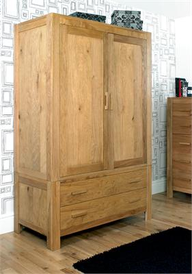 Lyon Oak Large Double Wardrobe Small Single