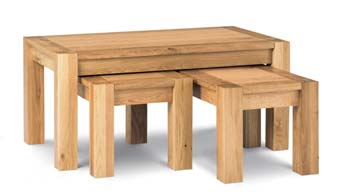 Lyon Oak Nest of Coffee Tables