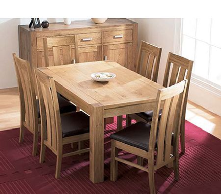 Lyon Oak Rectangular Dining Table