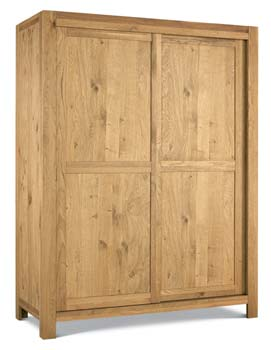 Lyon Oak Sliding Door Large Double Wardrobe