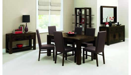 Lyon Walnut Dining Set with 6