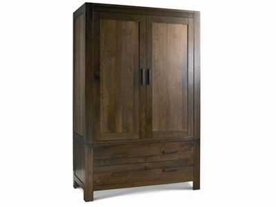 Lyon Walnut Large Double Wardrobe Small Single