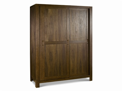 Lyon Walnut Large Sliding Door Wardrobe Small