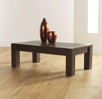 Lyon Walnut Rectangular Coffee Table
