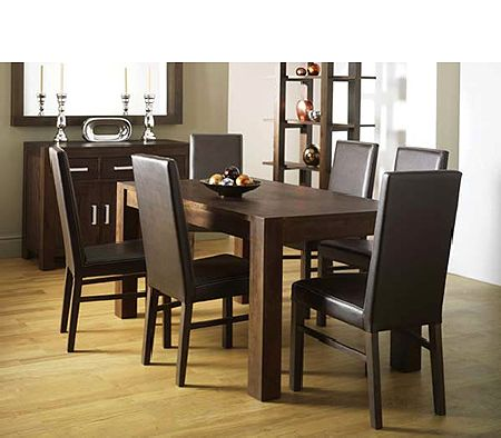 Lyon Walnut Rectangular Dining Table
